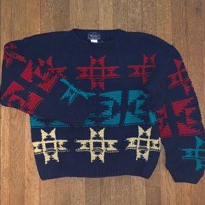 RARE Woolrich Woman Wool Woven Sweater Size L